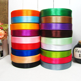 10 Rolls 15mm Satin Ribbon Wedding Party Craft Sewing Decorations (1 Roll 25yds) Mix Colors