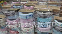 Masking Tape Washi BRICOLAGE Tissu de la Grille des Autocollants Mignon Creative Papeterie Colorée Collants de style Japonais à partir de washi bande de tissu fabricateur