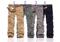 Wholesale New Cargo Pants Straight Male Bag trousers pants men s casual pants uniform pants