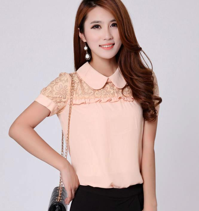 Where to Buy Chiffon Short Sleeve Lace Blouse Online? Where Can I ...