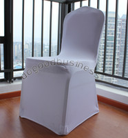 Spandex / Polyester wedding decoration Party Decoration High Quality 1PCS White New Spandex Lycra Chair Covers for Wedding Party Hotels Decorations(no arch)