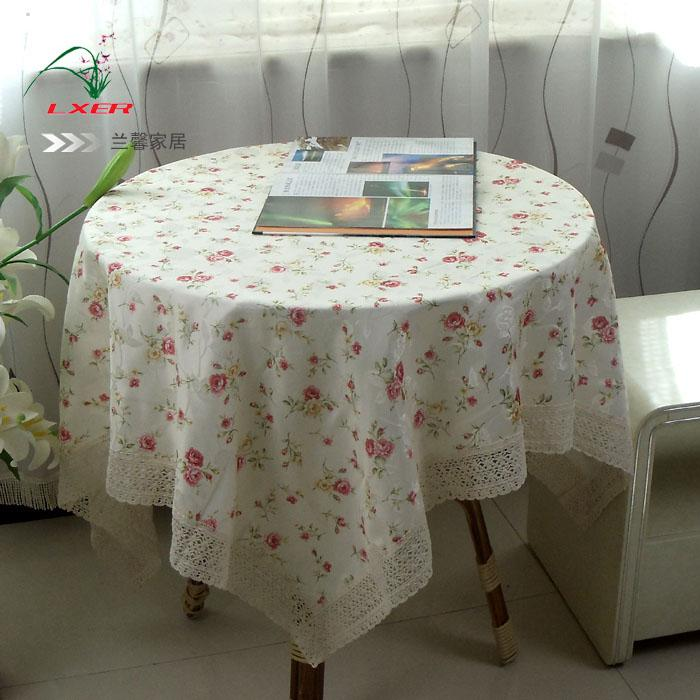 2013 Rustic Flower Fabric Table Cloth Round Table Dining Table