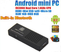 Wholesale MK808B Smart Android TV BOX HDMI Dongle Player Bluetooth Dual Core Cortex A9 MINI PC RAM GB GB