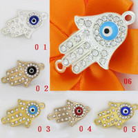 Wholesale Fashion jewelry fitting Alloy with Rhinestone eye Accessory DIY Metal Jewelry Findings LM PS010