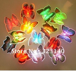 Wholesale Colorful Fiber Optic Butterfly Nightlight simulation Butterfly led Nightlight Nightlight whole
