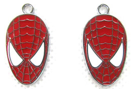 Lot 50 pcs Spider-man DIY Jewelry Making Metal Charm pendants Party Gifts