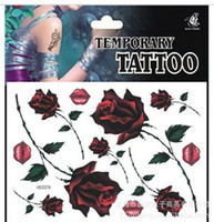 Wholesale Waterproof and sweatproof tattoo stickers tattoo stickers small lips rose diagram of HSC078