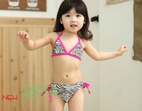 girl's bikini Zebra sexy swimwear summer kid's swimsuits 201...