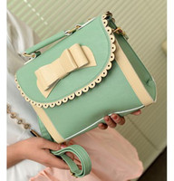 Wholesale 2014 Brand New Design Cute Butterfly Decorative Women PU Leather Bags Fashion Wooman Shoulder Handbags Lady Totes