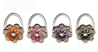 Wholesale Jasmine Flower Folding Bag Purse Handbag Hook Hanger Holder