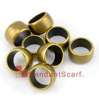 al por mayor encantos pendientes de plástico-50PCS / LOT, círculo plástico de bronce antiguo de la bufanda del collar de la joyería de DIY de los accesorios pendientes superiores de la bufanda suena el encanto, envío libre, AC0124B
