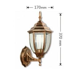 European outdoor wall lamp villa balcon waterproof simple courtyard lamp aisle creative aluminum lamp