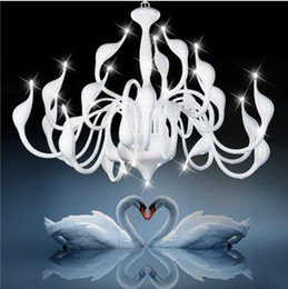 Wholesale Popular Artistic Swan Chandelier Modern Wrought Iron Pendant Lights with head PL195