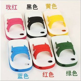 Wholesale The same paragraph of the Taiwan star blue and white slippers phone shell iPhone4 s the personalized silicone case cell phone shell