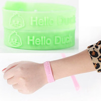 South American Unisex Party 50PCS Hello Duck Drive away mosquito Repellent Bracelets Insect Repellent Silicone Wristband Baby