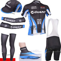 Wholesale Pro team giant cycling jersey shorts arm warmers and leg warmers accept drop shipping