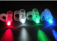 Wholesale 5000pcs Night Light Finger Toys Magic LED Finger Light Ring Lamp Colorful Laser Light with opp bag