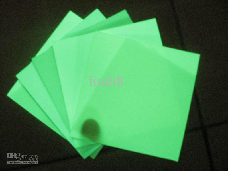 2018 High Quality A4 Pvc Photoluminescent Paper Glow In