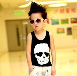 Wholesale Boys Clothes Children Tank Tops Popular Fashion Skull Printed Vest Sleeveless T Shirt Child Clothing Boys Tank Tops Kids Summer Casual Vests