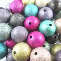 Round beads - Jewelry colorful mm round acrylic stardust beads chunky necklace beads