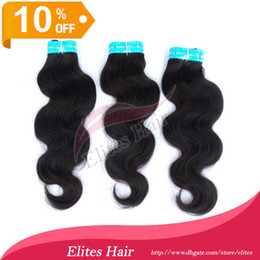 Wholesale 10 OFF Brazilian Virgin Hair Weft Extension Body Wave Remy Human weave extensions DHL Fast Shipping BH403