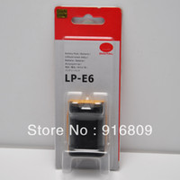 Wholesale High replacement LP E6 LPE6 digital camera batteries for canon EOS D EOS D