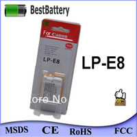 Wholesale OEM LP E8 Digital Camera Battery for canon d with retail package