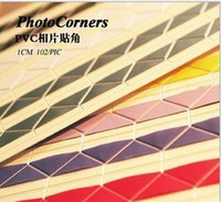 Wholesale DIY PHOTO ALBUM Scrapbook corner sticker PC page sticking Paper Crafts baby wedding picture photo
