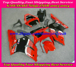 Fairing kit for KAWASAKI Ninja ZX6R 03 04 ZX 6R 2003 2004 ZX-6R 636 red black Fairings set+7gifts SD26