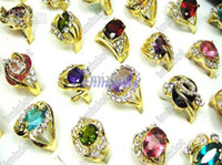 Wholesale Ring Jewelry Fashion Rings Crystal Zircon Gold P Rings Rhinestone CZ Ring Fashion Wedding Rings CZ06