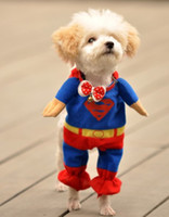 apparel special sizes - Special Design Super man T shirt Size from XS to XL for Small and Big Dog Popular Dog Apparel Four Legs Pets Clothes