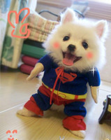 Spring/Summer big dog door - Door to Door Superman Dress with Cloak for Both Small and Big Dogs Pets Cotton Apparel Four Legs Pet Clothes