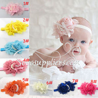 Wholesale Big Flower Baby Headband Fashion Baby Headbands Kids Hair Ornaments Girl s Headwear TS