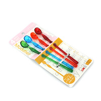 Wholesale Mini Plastic Colorful Spoon Multifunctional Coffee Spoon Eco Friendly Long Handled Mixing Spoon Ice Cream Dipper