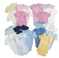 Wholesale Hot New Baby Boys Girl cotton One Piece Romper Short Sleeve Creepers Rompers Bodysuits m m
