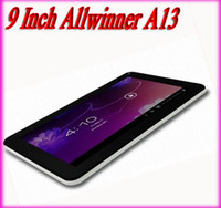 Wholesale 9 Inch Tablet pc Allwinner A13 Capacitive Screen Android Camera Wifi Front black and back white a DHL USA