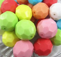 Round mixed 22mm Jewelry 22mm colorful round acrylic hexagon beads free shipping 2013 newest solid faceted beads 90pcs lot