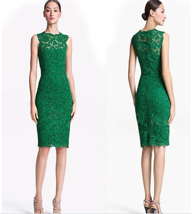 Ladies' Elegant Full Lace Sheath Dress Vintage Slim Fit Corset ...