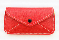 Universal PU leather airmail 1PCS Red PU Leather Envelope Mobile Bag Cell Phone Case #23087
