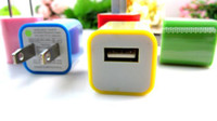 Wholesale DHL EMS US EU Plug USB Wall Travel Charger Adapter for Inch Inc Inch Android Tablet PC AC Power Candy Colors