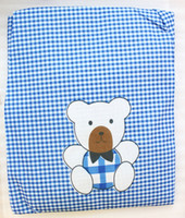 Wholesale 1PCS Blue Cartoon Bear Kitchen Apron
