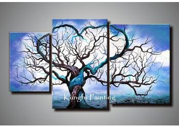 Blue Canvas Wall Art 100% handmade wall art canvas origin of life in blue oil painting
