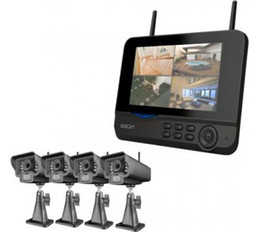 4CH 2.4GHz 7 inch Digital Wireless CCTV Security DVR Kit Camera Video recording Systems H716