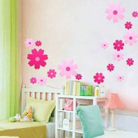 Wholesale 5PCS DIY Decoration Fashion Sakura Wall Stickers