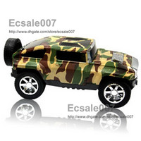 Wholesale Fashion New Portable Mini Music Camouflage SUV Car Model Speaker MP3 Player Speakers Subwoofers TF SD Digital Sound Box HY T507 FM Radio