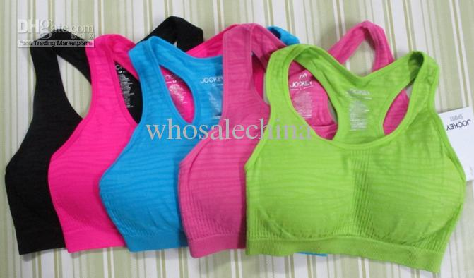 2017 Supply Striped Action Sports Padded Bra Seamless Women Sport ...