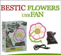 Wholesale DHL Flower Mini USB Fans Portable Personal Cooling Small Quiet fan For Computer Laptop Notebook