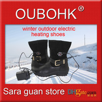 Wholesale Electric Heated Shoes Women Fashion Outdoor Boots Feet Comfort Warmer With Charger Li ion Battery Cold Winter Oubohk