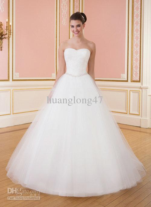Wedding Dresses Sweetheart Neckline Princess Ball Gown Lace ...