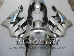 Silver fairings for KAWASAKI Ninja ZX-6R 94-97 ZX 6R 1994 1995 1996 1997 ZX6R 94 95 96 97 motorcycle fairing kits